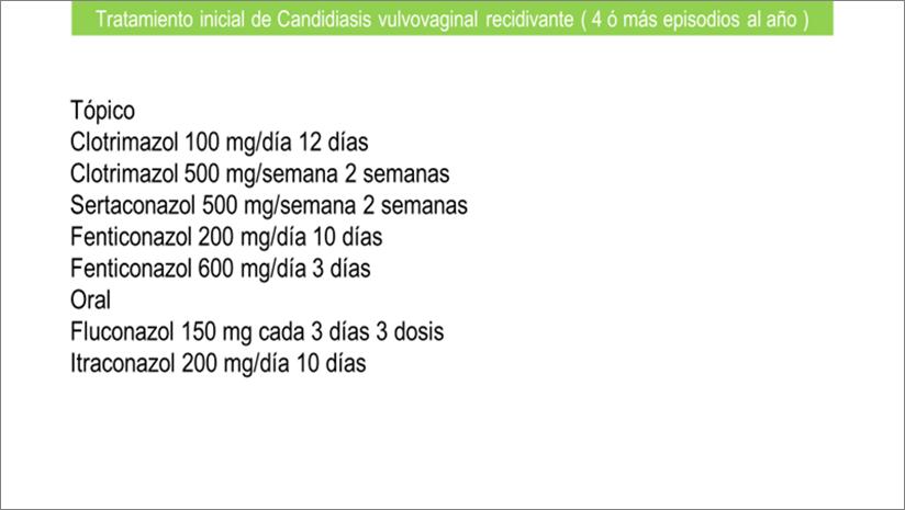 Vulvovaginitis candidiasica tratamiento ovulos